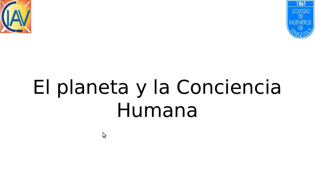 """""""El planeta y la Conciencia"""" por Belkys Urbina"""