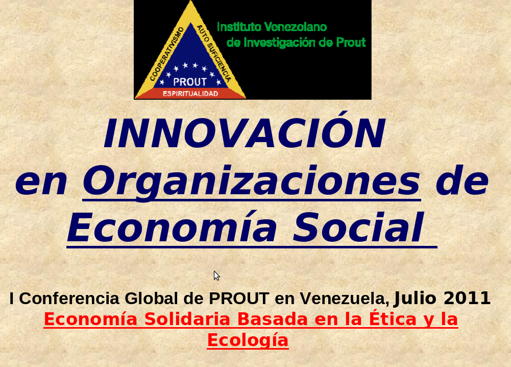 """""""Innovación en las Organizaciones de Economía Social"""" por Prof. Benito Díaz"""
